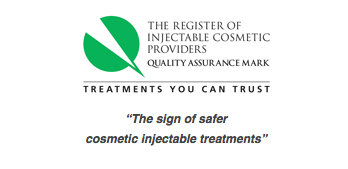 Quality assurance logo for injectable anti wrinkle treatments in North London