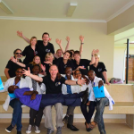 The group of dentists from North London with the dentists working in Tanzania