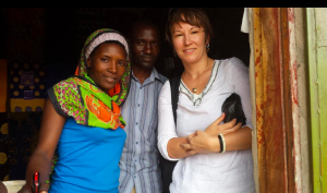 Crouch End dentist Monika and a family in Tanzania